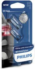 Philips Żarówki halogenowe Philips W5W WhiteVision 2szt 12961NBVB2
